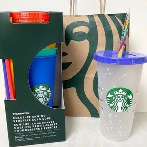 Starbucks Color Changing Confetti Cup Set